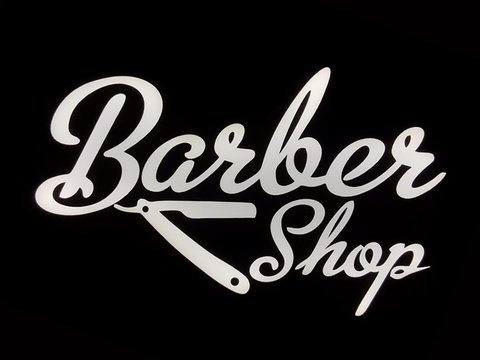 Luminoso LED Linha BUSINESS - Barber Shop - Gift Co.