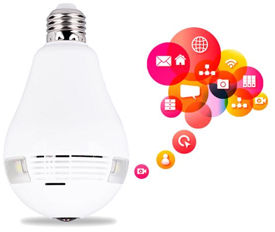 Lámpara Led con Cámara IP HD