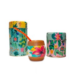 SET CONJUNTO DE MATE FLOWERS 3