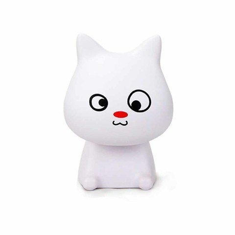 VELADOR LED GATITO BLANCO