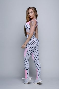 LEGGING NETWORK POA BRANCO - Madame Hardcore
