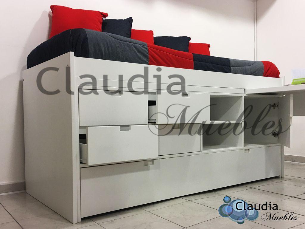 Claudia muebles cama con cajones carro cama y escritorio - Escritorio con cama ...