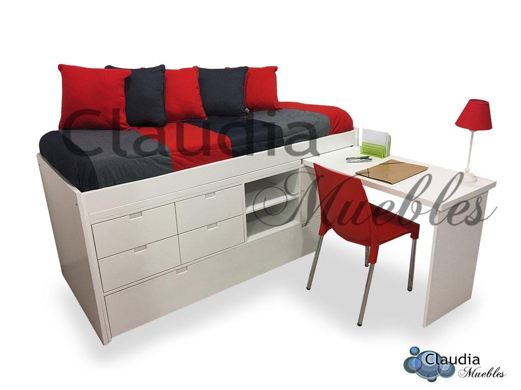 Cama con cajones carro cama y escritorio - Cama de 90 con cajones ...