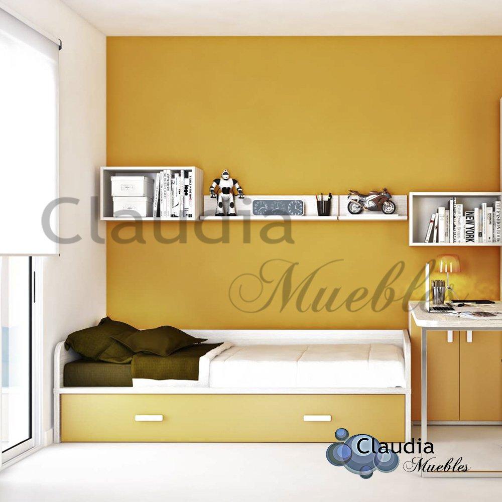 Divan cama compacta baja con brazos en u de plaza y media for Divan cama plaza y media