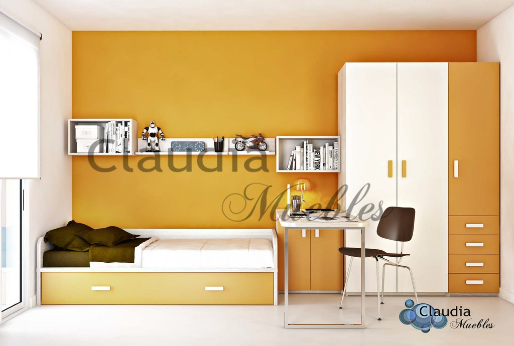 Divan cama compacta baja con brazos en u de plaza y media for Cama compacta oferta