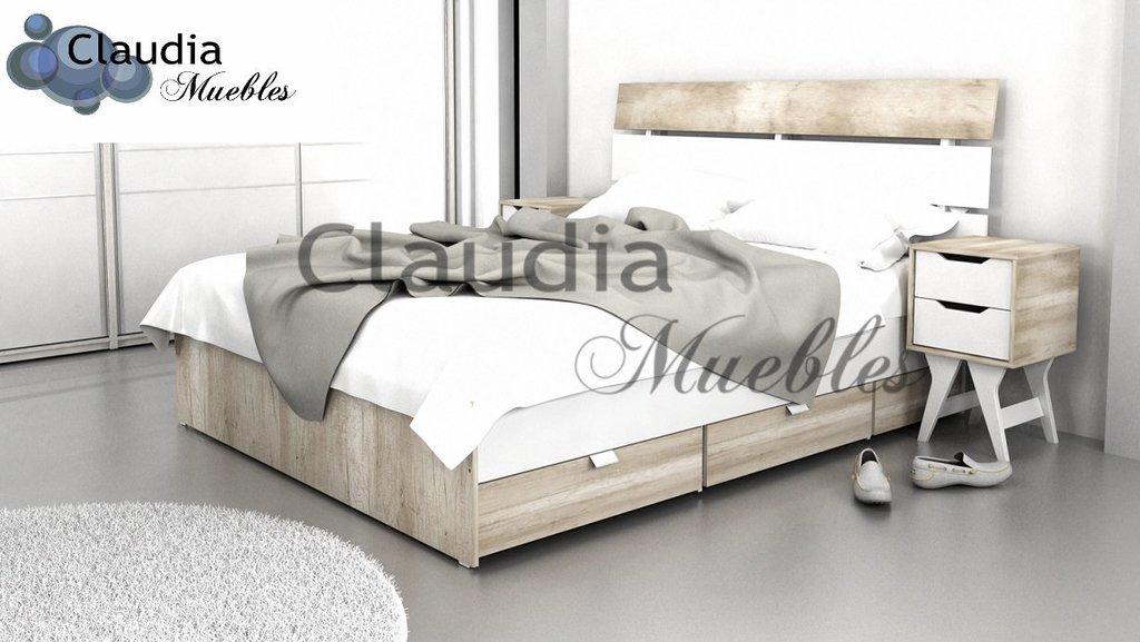 Claudia Muebles - Cama Multifunción Premiere 2 Plazas 160 X 200 ...