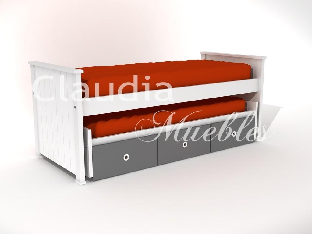 Cama nido laqueada claudia muebles claudia muebles for Muebles lufe cama nido