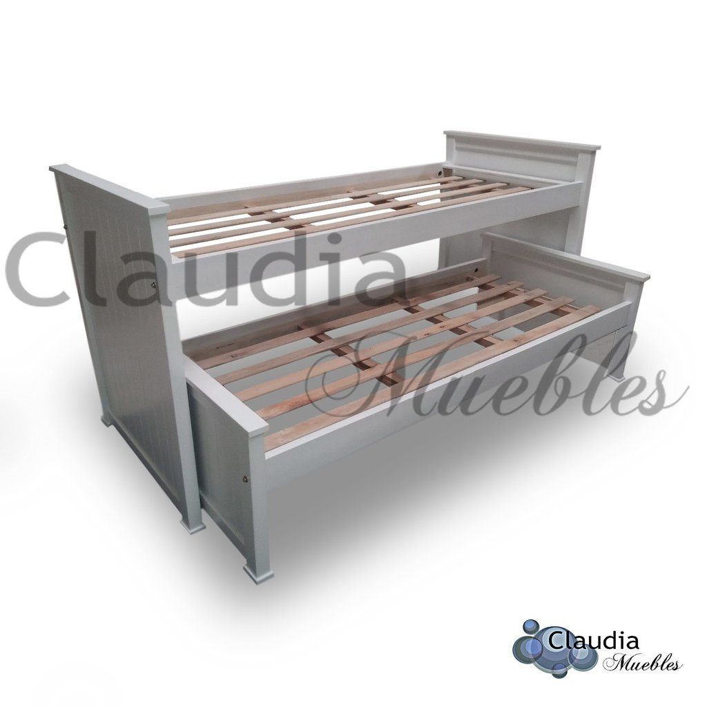 Claudia muebles cama nido premium for Cama nido 1 plaza y media