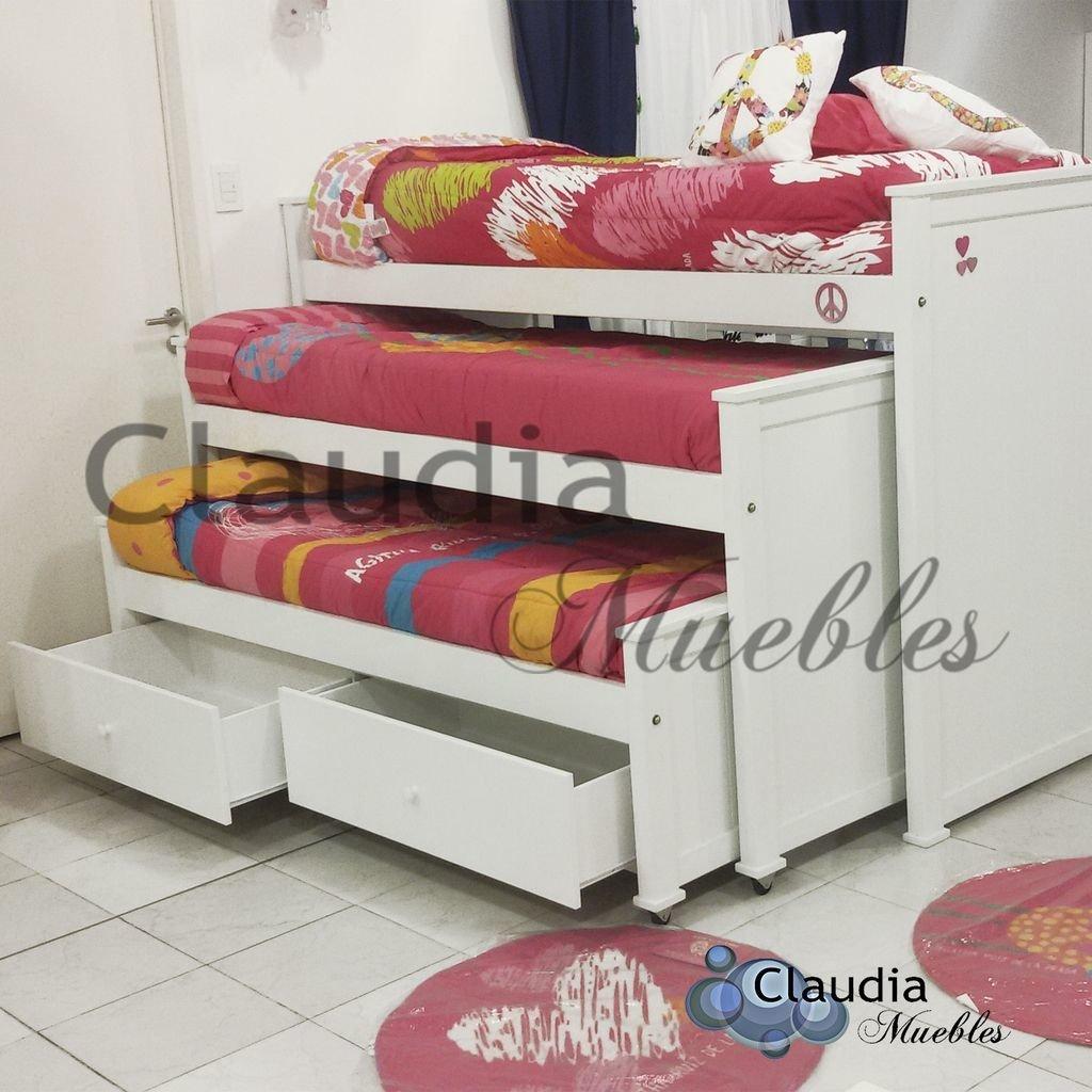 Cama nido triple 3 camas de guatambu for Cama nido precios baratos