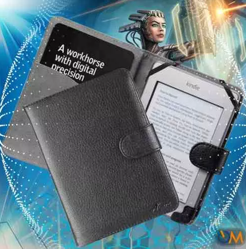 Funda Book Cover Amazon Kindle Touch Negro Acase - comprar online
