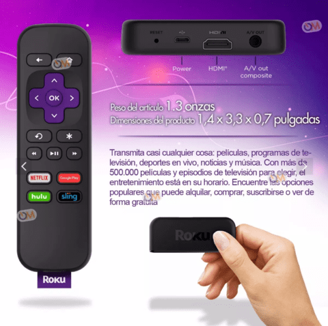 Roku Express+ Plus Smart Tv Hdmi O Tv Antiguos Salida Rca - OFERTAMAYOR