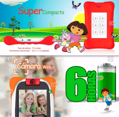 Tablet Nabi Nick Jr. Para Niños 16gb. Android 5' Antigolpes - OFERTAMAYOR