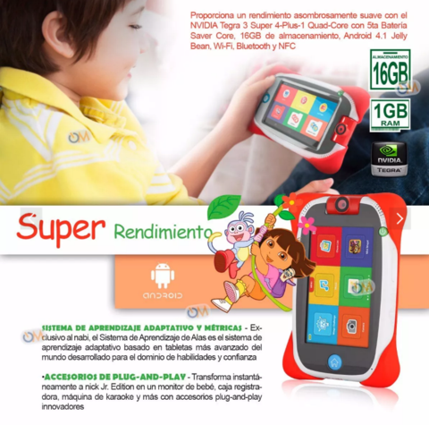 Tablet Nabi Nick Jr. Para Niños 16gb. Android 5' Antigolpes en internet