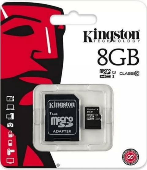 Memoria Kingston Micro Sd 8gb Clase 10 Original - comprar online