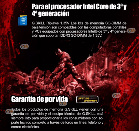 Memoria Sodimm Ripjaws Ddr3 4gb 1600mhz Gamers - OFERTAMAYOR