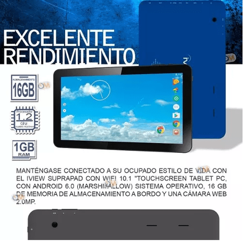 Tablet Pc 10 '' Quad Core 16gb Andr 6.0 Hd Bluet. 2cam Hdmi - comprar online