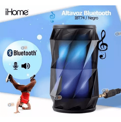 Parlante Ihome Ibt74 Bluetooth Luces Colores A Ritmo Musical - comprar online