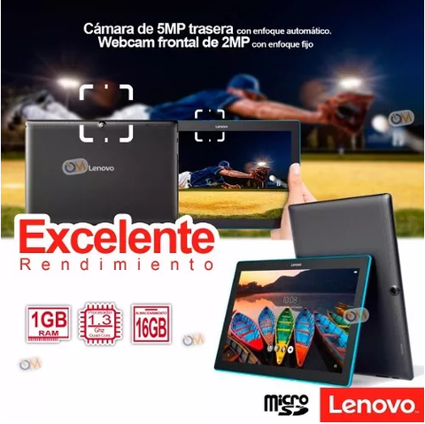 Tablet Lenovo 10 Pulgadas Hd 16gb. Dual Cam Android en internet