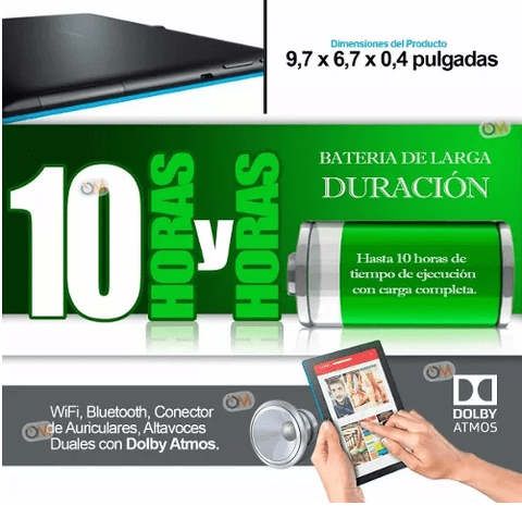 Tablet Lenovo 10 Pulgadas Hd 16gb. Dual Cam Android - OFERTAMAYOR