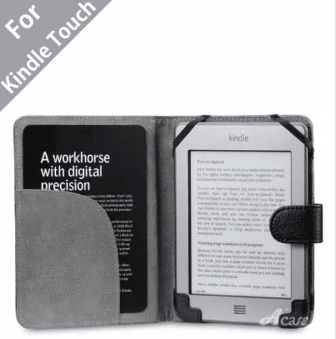 Funda Book Cover Amazon Kindle Touch Negro Acase - tienda online