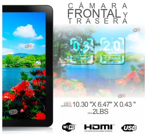Tablet Pc 10 '' Quad Core 16gb Andr 6.0 Hd Bluet. 2cam Hdmi - tienda online