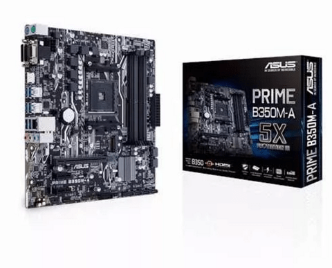 Mother Asus Prime B350m-a Am4 Ryzen B350 Amd - tienda online