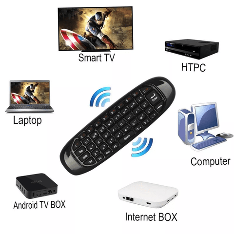 Air Mouse C120 Mini Teclado Control Remoto Smart Tv Pc - comprar online