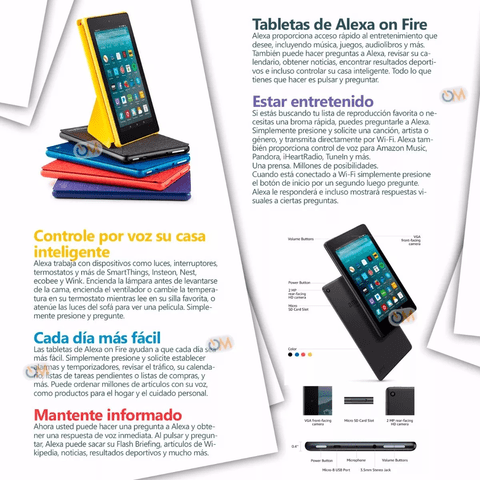 Tablet Amazon Kindle Fire 7 2017 8gb Alexa Ultimo Modelo - OFERTAMAYOR