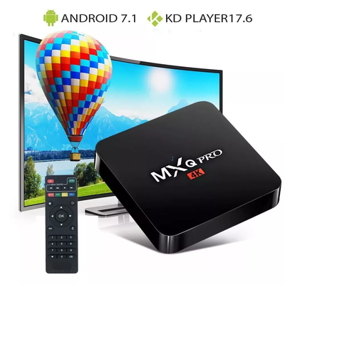 Smart Tv Box Mxq Pro 4k 1gb 8gb S905w Quadcore Android7.1