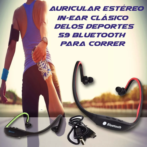 Auricular Estéreo In-ear Deporte S9 Bluetooth 4.0 Mp3 Mic - comprar online