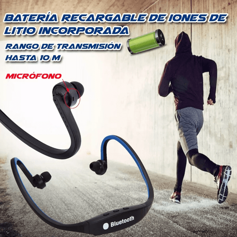 Auricular Estéreo In-ear Deporte S9 Bluetooth 4.0 Mp3 Mic - OFERTAMAYOR