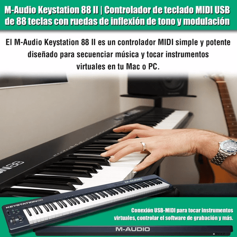 Controlador Teclado M-audio Keystation 88 Midi Usb en internet