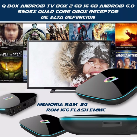 Smart Tv Box Qbox 4k A9 2 Gb 16 Gb S905x Quadcore Android - comprar online