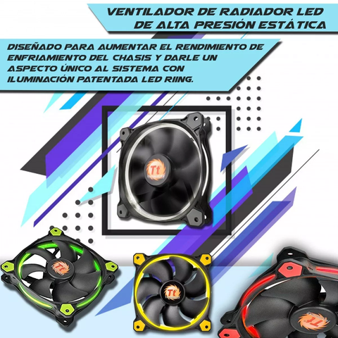 Cooler Fan Thermaltake 120mm Led Riing Blanco en internet