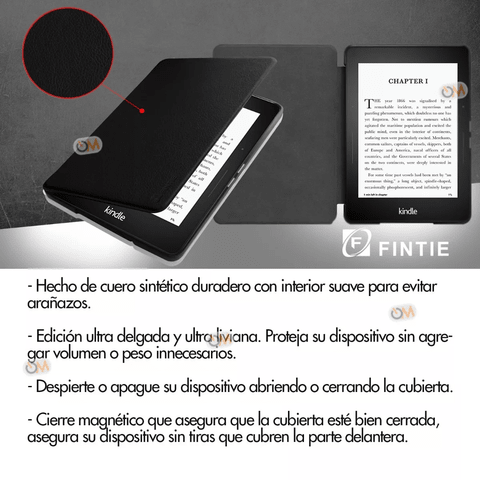 Funda Cover E-book Fintie Amazon Kindle Voyager Negro - comprar online