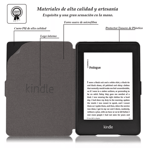 Funda Cover Book Cuero Pu Slim Amazon Kindle Touch 558 en internet