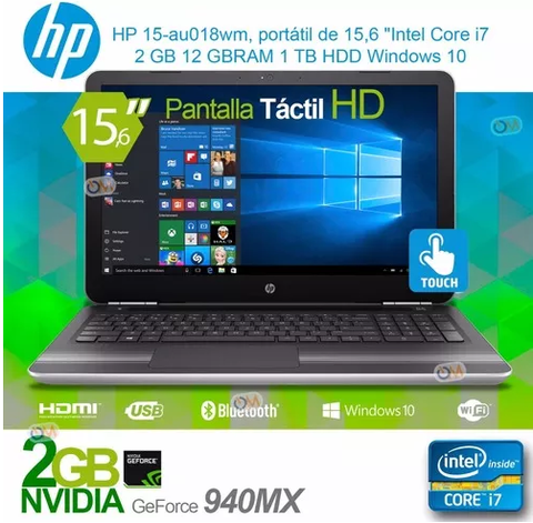 Notebook Hp 15.6 Intel I7 1tb 12gb Win10 Gf940mx Touch - comprar online