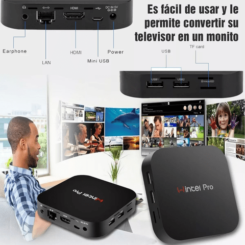 Mini Pc Tv Box Wintel W10 T8 2gb 32gb Bt Hdmi 4k - OFERTAMAYOR