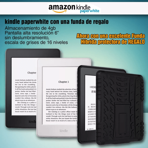 Amazon Kindle Paperwhite Luz Con Funda Regalo - comprar online
