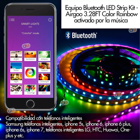 Kit Tiras Led Rgb Magneticas Ideal Gabinete Pc Bluetooth - comprar online