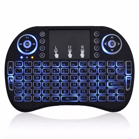 Mini Teclado Android Inalambrico Touchpad Luz Led en internet