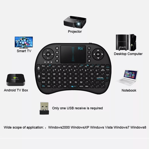 Mini Teclado Android Inalambrico Touchpad Luz Led - OFERTAMAYOR