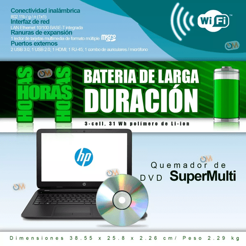 Laptop Notebook Hp 15.6'' Intel 4gb 500gb Win10 Hdmi - OFERTAMAYOR