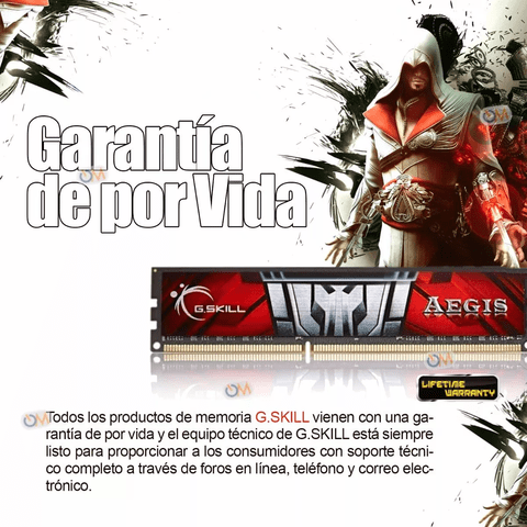Memoria Aegis Ddr3 8gb 1600mhz Gamers - OFERTAMAYOR