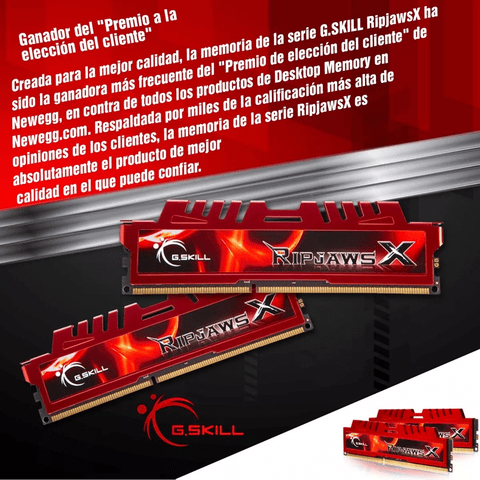 Memoria Gskill Ripjaws X 8gb Ddr3 1866 Mhz. 1x8 Gamer - OFERTAMAYOR