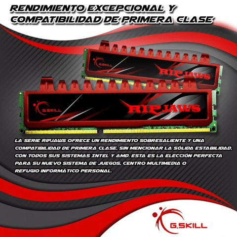 Memoria Gskill Ripjaws 4gb Ddr3 1600 Mhz 1x4gb. Gamer en internet