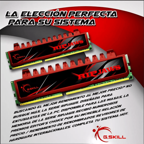 Memoria Gskill Ripjaws 4gb Ddr3 1600 Mhz 1x4gb. Gamer - OFERTAMAYOR