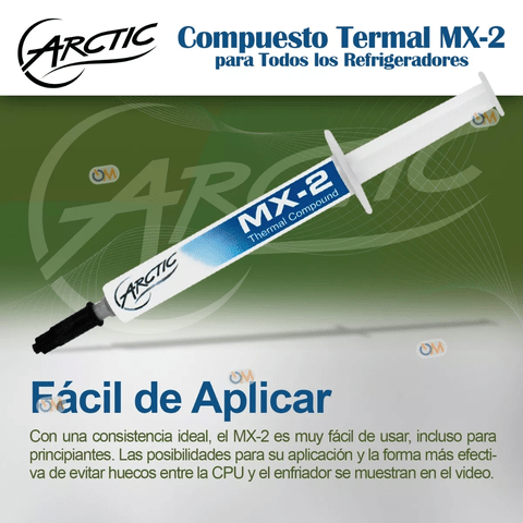 Pasta Termica Arctic Mx-2 Thermal Compound 4 Gramos - comprar online