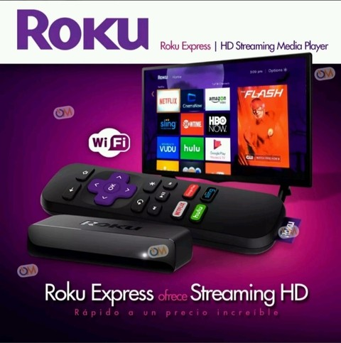 Roku Express Smart Tv Hdmi Como Google Chromecast - OFERTAMAYOR