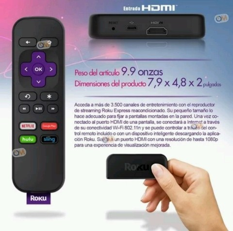 Roku Express Smart Tv Hdmi Como Google Chromecast - tienda online